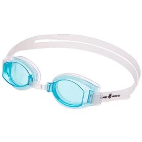 Очки для плавания MadWave Simpler белые (M042409_CYAN-WHT)