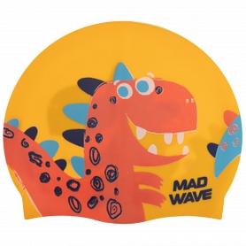 Шапочка для плавания детская MadWave Junior Dino желтая (M057916_YEL)
