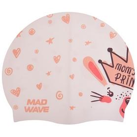 Шапочка для плавания детская MadWave Junior Little Bunny белая (M057913_WHT)