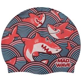 Шапочка для плавания детская MadWave Junior Sharky бирюзовая (M057911_TRQ)