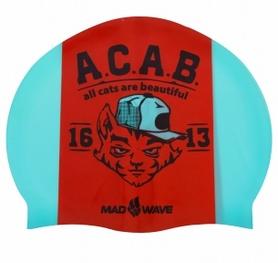 Шапочка для плавания MadWave A.C.A.B. (M055823000W)