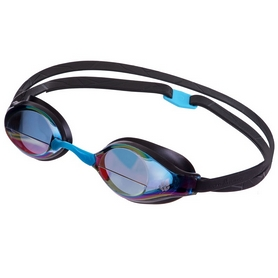 Очки для плавания стартовые MadWave Record breaker rainbow II (M045403_BLK)