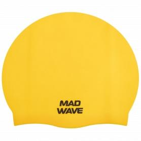 Шапочка для плавания MadWave Intensive Big желтая (M053112_YEL)