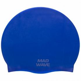 Шапочка для плавания MadWave Intensive Big синяя (M053112_BL)