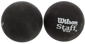 Мяч для сквоша Wilson Staff Squash 2 Ball Bl Dot, 2 шт (WRT617500)