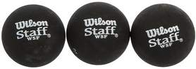 Мяч для сквоша Wilson Staff, 3шт (WRT618400)