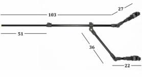 Держатель телескопический Ranger Feeder Arm Double, 80-130 см (RA 8835) - Фото №2