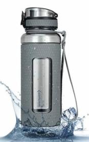 Бутылка для воды KingCamp Silicon Tritan Bottle серая, 1 л (KA1144MG)