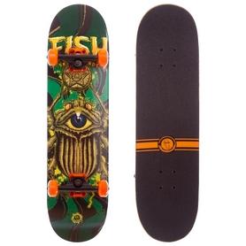 "Скейтборд деревянный Fish Capricorn оранжевый, 31"" (SK-414_OR)"