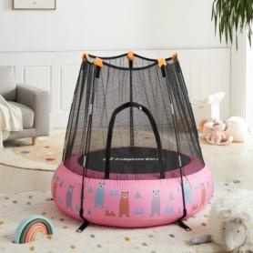 Батут надувной детский Insportline Nufino розовый, 120 см (22307-2)