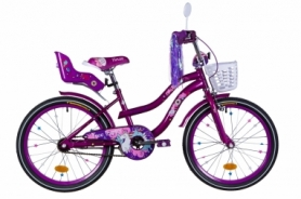 """Велосипед детский Formula Flower Premium 2021 - 20"""", рама - 13"""" фиолетовый (OPS-FRK-20-137)"""