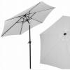 Зонт пляжный (садовый) с наклоном Springos серый, 250 см (GU0012)