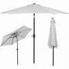 Зонт пляжный (садовый) с наклоном Springos серый, 250 см (GU0012) - Фото №8