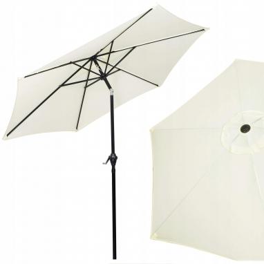 Зонт пляжный (садовый) с наклоном Springos бежевый, 250 см (GU0013)