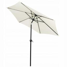 Зонт пляжный (садовый) с наклоном Springos бежевый, 250 см (GU0013) - Фото №3