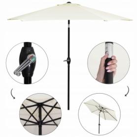 Зонт пляжный (садовый) с наклоном Springos бежевый, 250 см (GU0013) - Фото №7