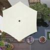Зонт пляжный (садовый) с наклоном Springos бежевый, 250 см (GU0013) - Фото №8