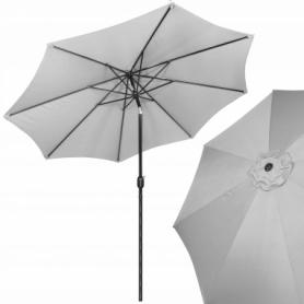 Зонт пляжный (садовый) с наклоном Springos серый, 290 см (GU0015)