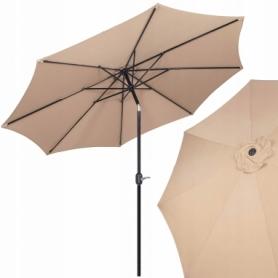 Зонт пляжный (садовый) с наклоном Springos бежевый, 290 см (GU0016)