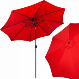 Зонт пляжный (садовый) с наклоном Springos красный, 290 см (GU0018)