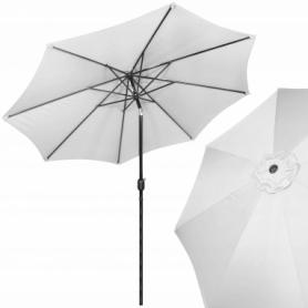Зонт пляжный (садовый) с наклоном Springos светло-серый, 290 см (GU0020)