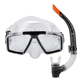 Набор для плавания (маска и трубка) Dolvor M4204P+SN07P
