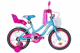 """Велосипед детский Formula Flower Premium 2021 - 20"""", рама - 13"""" голубой (OPS-FRK-20-133)"""