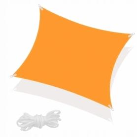 Тент-парус теневой Springos Orange, 3x3 м (SN1031)