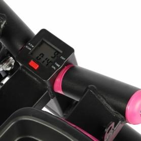 Степпер поворотный (мини-степпер) с эспандерами SportVida розовый (SV-HK0360) - Фото №6