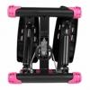 Степпер поворотный (мини-степпер) с эспандерами SportVida розовый (SV-HK0360) - Фото №7