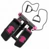 Степпер поворотный (мини-степпер) с эспандерами SportVida розовый (SV-HK0360) - Фото №10