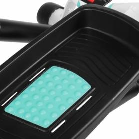 Степпер поворотный (мини-степпер) с эспандерами SportVida голубой ((SV-HK0361) - Фото №4