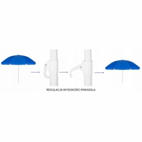 Зонт пляжный (садовый) усиленный Springos, 240 см (BU0003) - Фото №9