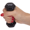 Гантель для фитнеса виниловая Zelart черная, 0,5 кг (TA-2777-0_5_BLK) - Фото №3