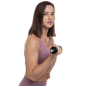 Гантель для фитнеса виниловая Zelart черная, 1 кг (TA-2777-1_BLK) - Фото №4