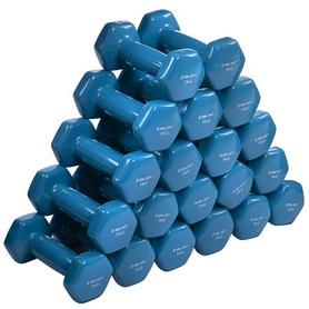 Гантель для фитнеса виниловая Zelart голубой, 1 кг (TA-2777-1_CYAN) - Фото №4