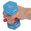 Гантель для фитнеса виниловая Zelart голубой, 1 кг (TA-2777-1_CYAN) - Фото №2