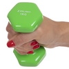 Гантель для фитнеса виниловая Zelart салатовая, 1 кг (TA-2777-1_GRN) - Фото №2
