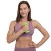 Гантель для фитнеса виниловая Zelart салатовая, 1 кг (TA-2777-1_GRN) - Фото №4