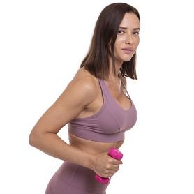 Гантель для фитнеса виниловая Zelart розовая, 1 кг (TA-2777-1_PNK) - Фото №3