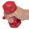Гантель для фитнеса виниловая Zelart красная, 1 кг (TA-2777-1_RED) - Фото №3