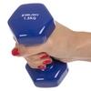Гантель для фитнеса виниловая Zelart синяя, 1,5 кг (TA-2777-1_5_BL) - Фото №2