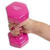 Гантель для фитнеса виниловая Zelart розовая, 3 кг (TA-2777-3_PNK) - Фото №3