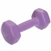 Гантель для фитнеса виниловая Zelart фиолетовая, 3 кг (TA-2777-3_VIO)