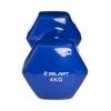 Гантель для фитнеса виниловая Zelart синяя, 4 кг (TA-2777-4_BL) - Фото №3