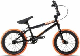 """Велосипед BMX Stolen AGENT 14.60"""" 2021 BLACK W/ DARK NEON ORANGE TIRES (SKD-36-35)"""