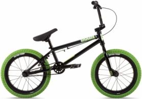 """Велосипед BMX Stolen AGENT 16.25"""" 2021 BLACK W/ NEON GREEN TIRES (SKD-82-32)"""