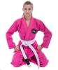Кимоно для джиу-джитсу женское Hard Touch розовое (JJSL) - Фото №3