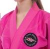 Кимоно для джиу-джитсу женское Hard Touch розовое (JJSL) - Фото №5