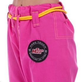 Кимоно для джиу-джитсу женское Hard Touch розовое (JJSL) - Фото №6